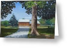 Kingsbury Farm Greeting Card by Mark Haley