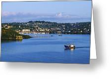 Kinsale, Co Cork, Ireland Boat With Greeting Card