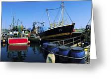 Kinsale, Co Cork, Ireland Fishing Boats Greeting Card