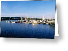Kinsale, Co Cork, Ireland Moored Boats Greeting Card