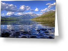 Kintla Lake Pebbles Greeting Card