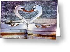 Kissing Swans Greeting Card