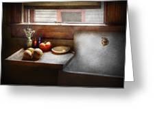 Kitchen - Sink - Farm Kitchen  Greeting Card