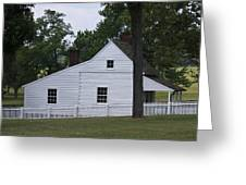 Kitchen And Slave Quarters Appomattox Virginia Greeting Card
