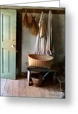 Kitchen Door In Old House Greeting Card
