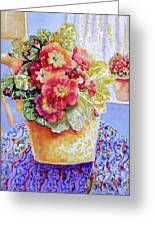 Kitchen Primrose II Greeting Card by Ann  Nicholson