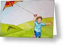 Kite Flying Fun Greeting Card