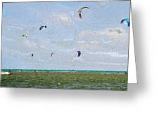 Kites Over The Bay Greeting Card