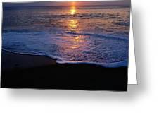 Kitty Hawk Beach At Sunset Greeting Card