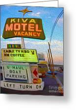 Kiva Motel - Needles Ca Greeting Card