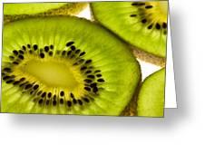 Kiwi Fruit Macro 5 Greeting Card