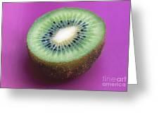 Kiwi On Pink Greeting Card