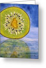 Kiwi Reflection Greeting Card