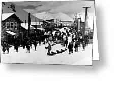 Klondike Street Scene Greeting Card