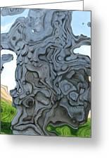 Knarly Tree Abstract Greeting Card