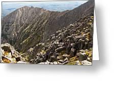 Knife Edge Mount Katahdin Baxter State Park Greeting Card
