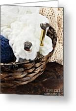 Knitting Needles Greeting Card