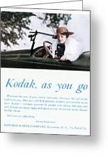 Kodak Advertisement, 1917 Greeting Card