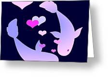 Koi In Love Greeting Card