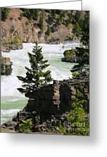 Kootenai Falls In Montana Greeting Card