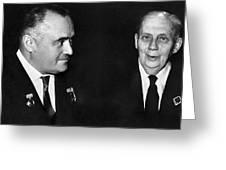 Korolev And Sheremetyev, Soviet Engineers Greeting Card