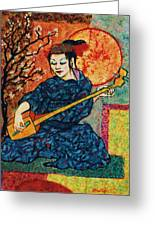Koto Player Greeting Card by Terry Jackson