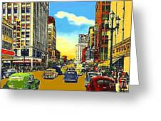 Kress And Woolworth's Stores In Seattle Wa In 1950 Greeting Card