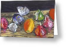 Kumquats And Candy Greeting Card by Scott Bennett