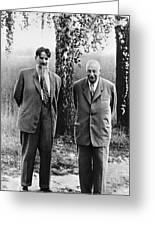Kurchatov And Ioffe, Soviet Physicists Greeting Card
