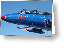 L-29 Delfin Standard Jet Trainer Greeting Card