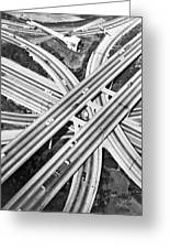 La Freeway Interchange Greeting Card