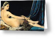 La Grande Odalisque Greeting Card by Pg Reproductions