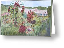 La Maison Et Le Jardin De Monet Greeting Card