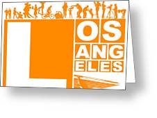 La Orange Poster Greeting Card by Naxart Studio