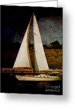 La Paloma Blanca Boat Greeting Card