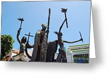 La Rogativa Statue Old San Juan Puerto Rico Greeting Card