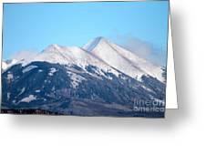 La Sal Mountains 111 Greeting Card