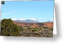 La Sal Mountains Greeting Card