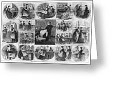 Labor: Women, 1868 Greeting Card