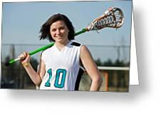 Lacrosse Girl Greeting Card