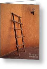 Ladder Against Adobe Wall Greeting Card