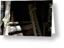 Ladder In The Shadow Greeting Card