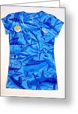 Ladies Gamefish Collage Shirt Greeting Card