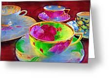 Ladies Tea Time Greeting Card