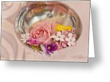 Ladled With Flowers  Greeting Card