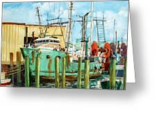 Lady Grace Trawler Greeting Card by Peter Sit