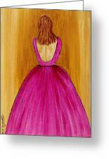 Lady In Pink 4536 Greeting Card by Jessie Meier