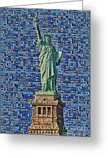 Lady Liberty Mosaic Greeting Card