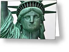 Lady Liberty Up Close Greeting Card