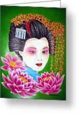 Lady Lotus Greeting Card